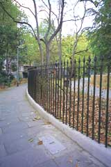 New railings at Brunswick Square