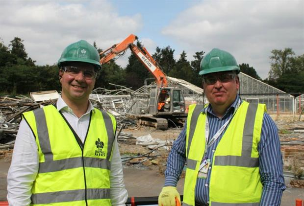 Andrew Scattergood, Chief Executive, The Royal Parks (L) and Steve Edwards (R)