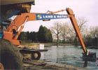 Dredging the lake in Finsbury Park