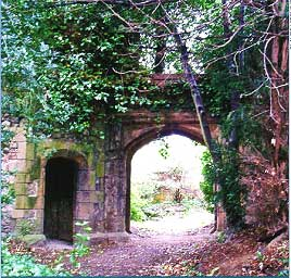 The ruined tower and gateway at Park Hill, Streatham