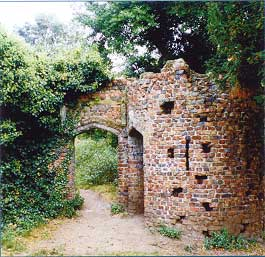Gothic ruin near the old stable block in Gunnersbury Park