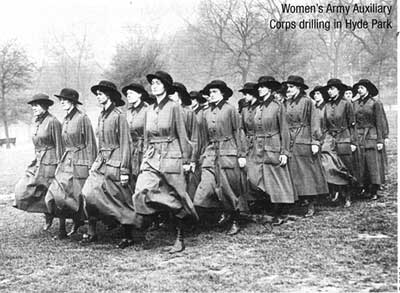 Women's Army Auxiliary Corps drilling in Hyde Park