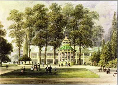 Cremorne Gardens in 1852, depicted in a watercolour by TH Shepherd (Royal Borough of Kensington & Chelsea archive)